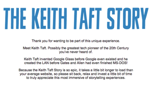 The Keith Taft Story