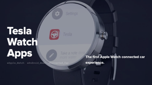 Tesla Watch Apps